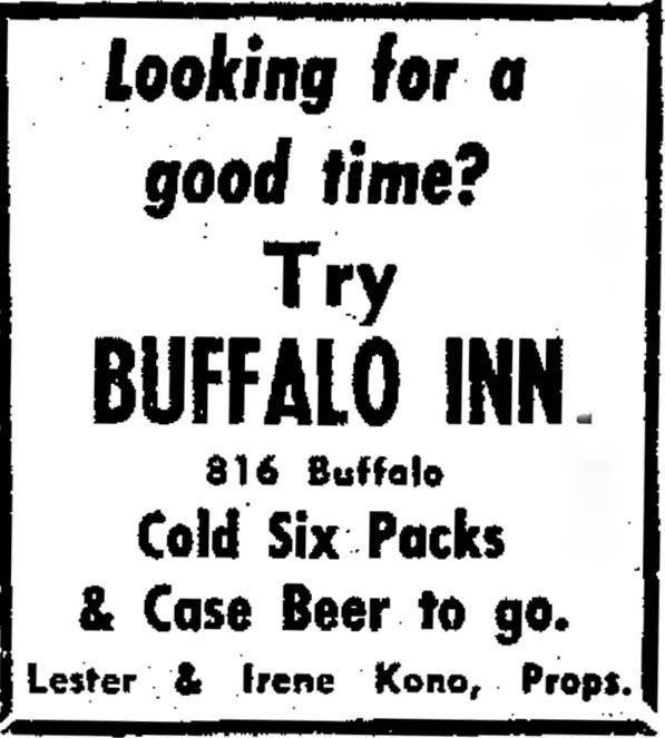 10-3-68 Buffalo Inn Ad