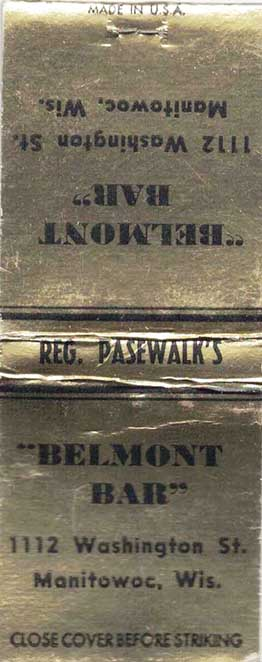 Belmont Bar Matchbook